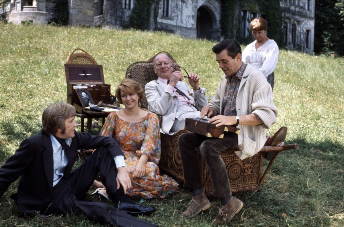 "Ellen Burstyn, John Gielgud and Dirk Bogarde in ""Providence"", by Alain Resnais"