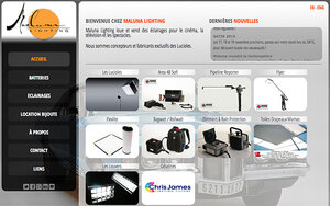 Maluna Lighting renouvelle son site Internet
