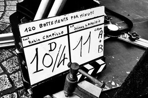 "Un journal de bord du tournage de ""120 battements par minute"", de Robin Campillo Par Romain Baudéan"