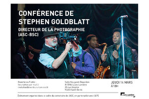 Conférence en direct de Stephen Goldblatt, ASC, BSC