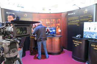 Sur le stand Sony