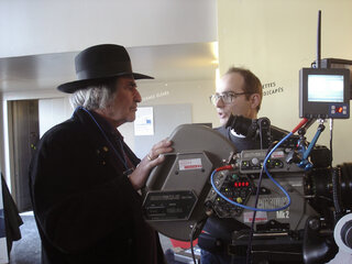 William Lubtchansky et Fred Lombardo sur le stand Panavision-Alga-Techno-Cinécam