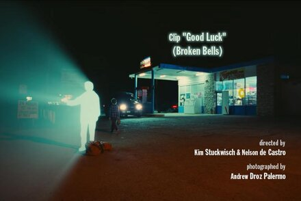 "Director of photography Andrew Droz Palermo explains the shooting of ""Good Luck"", music video of Broken Bells band Laser Beams"