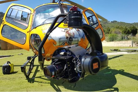 Aering and the gyrostabilized Shotover K1 camera head