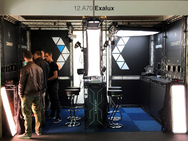 Exalux booth at IBC